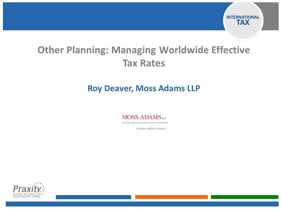 Roy Deaver, Moss Adams LLP