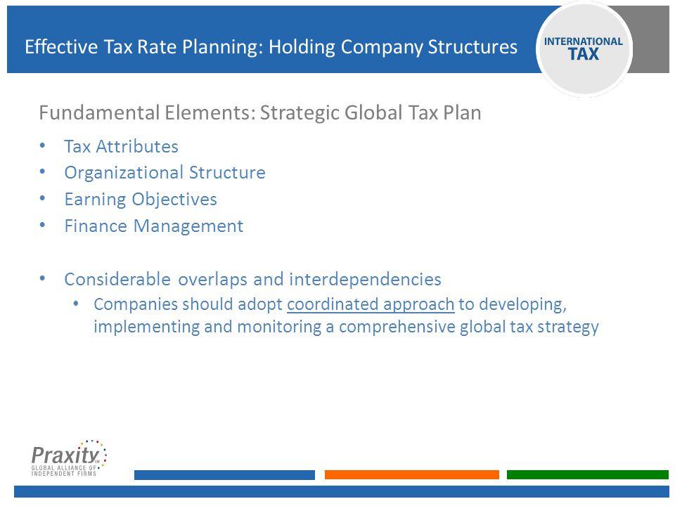 Fundamental Elements: Strategic Global Tax Plan