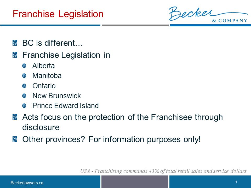 Franchise Legislation