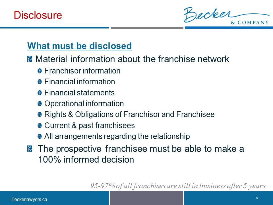 Disclosure What must be disclosed