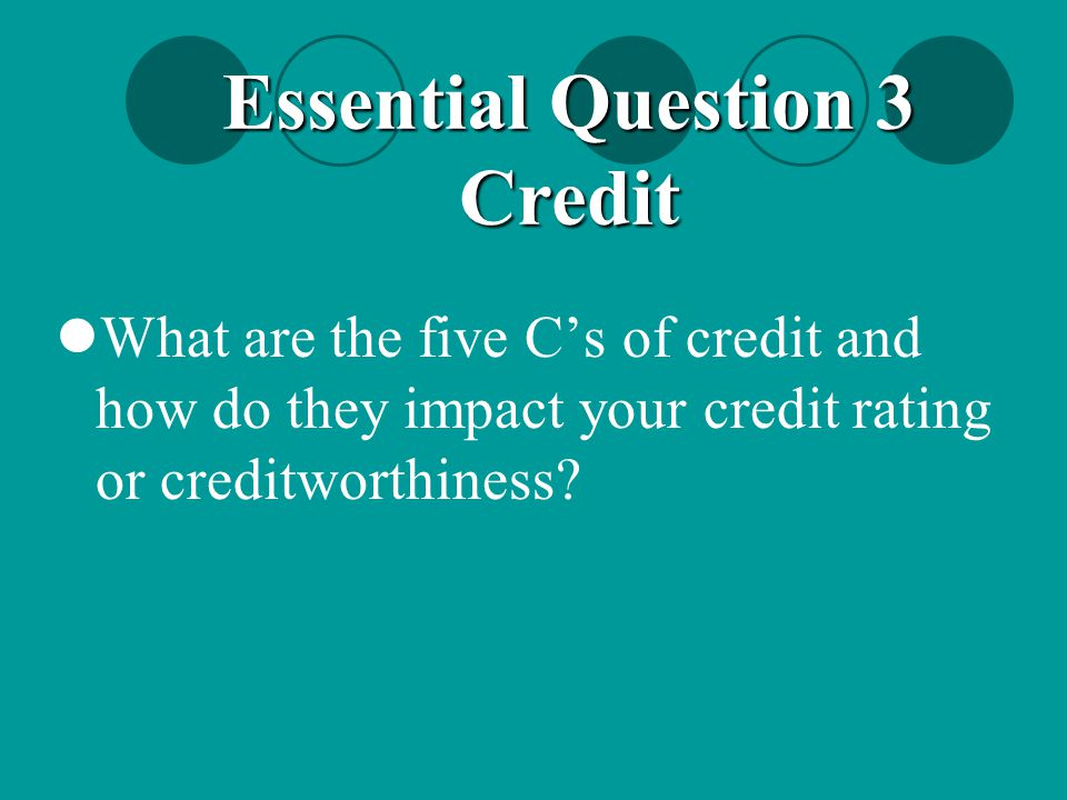 Essential Question 3 Credit