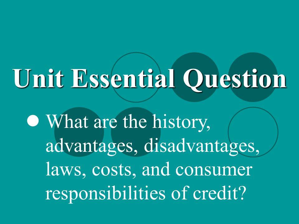 Unit Essential Question