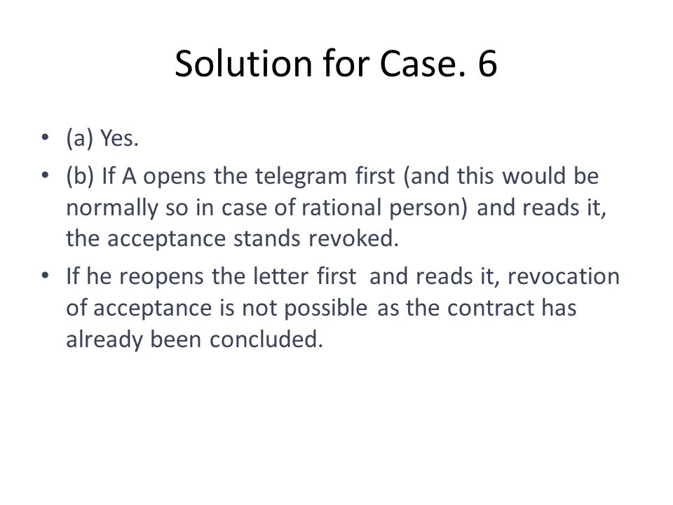 Solution for Case. 6 (a) Yes.