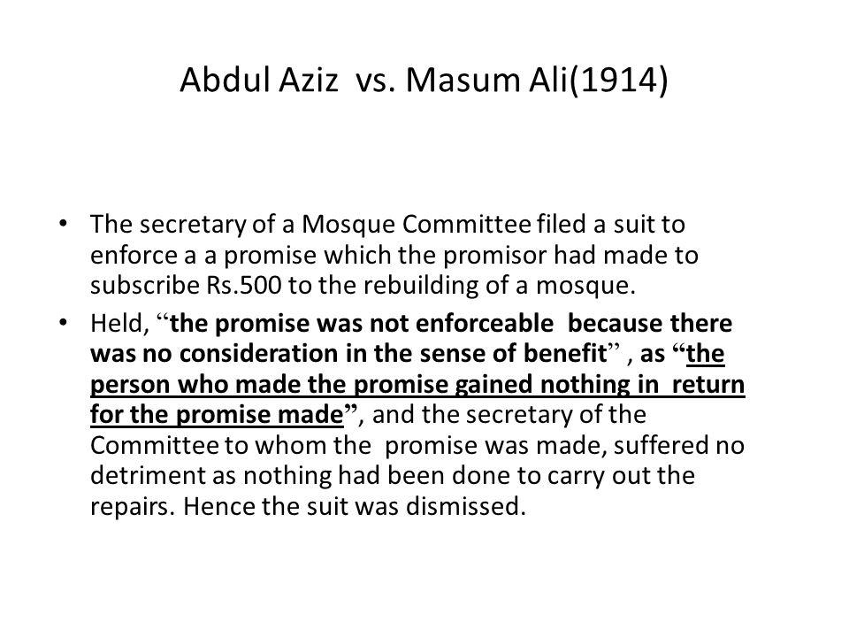 Abdul Aziz vs. Masum Ali(1914)