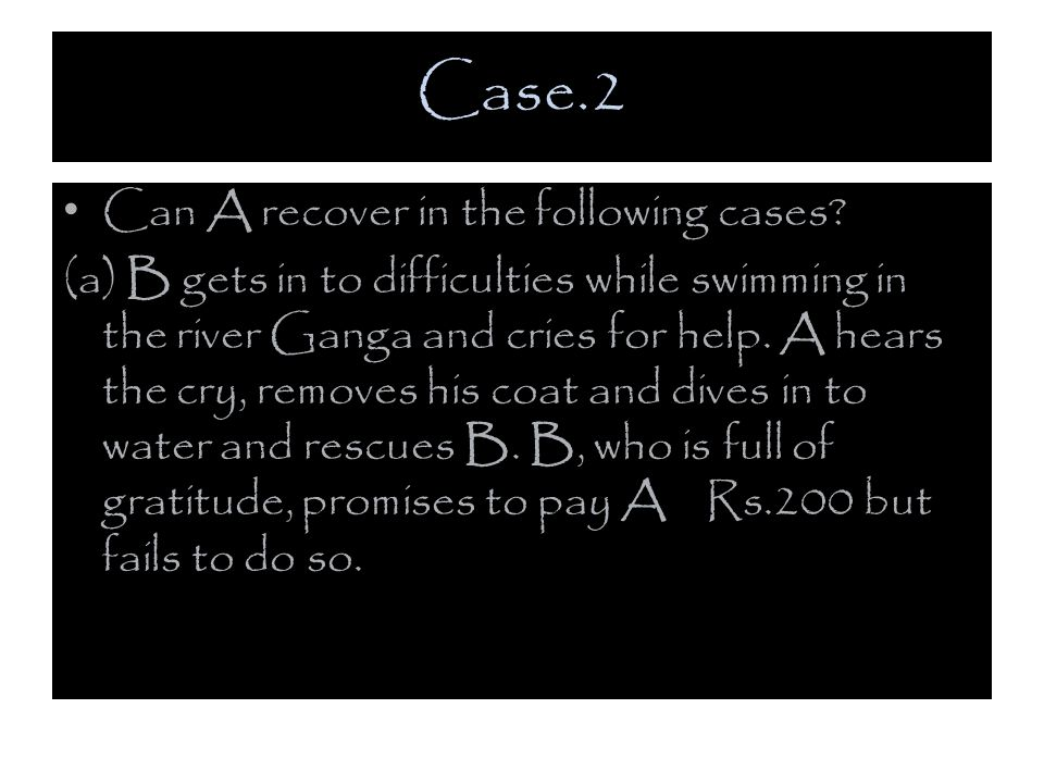 Case.2 Can A recover in the following cases