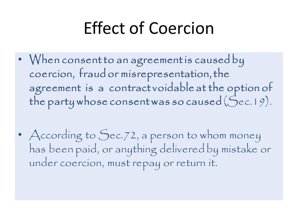 Effect of Coercion
