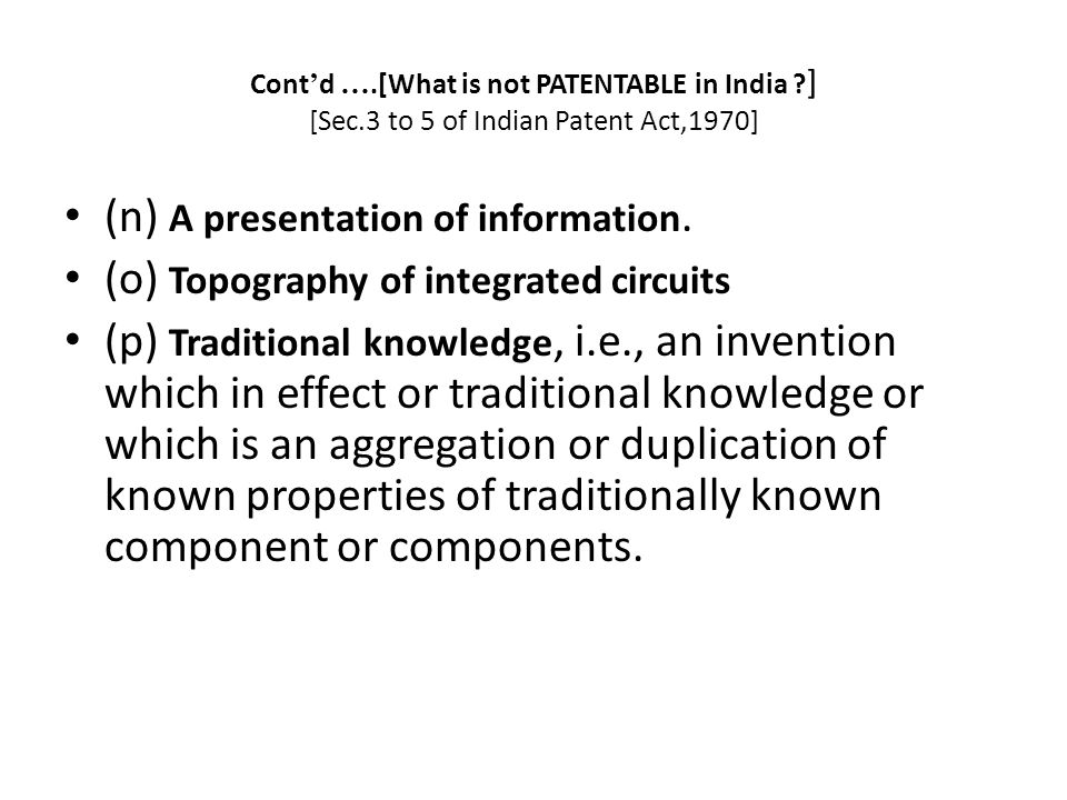 (n) A presentation of information.