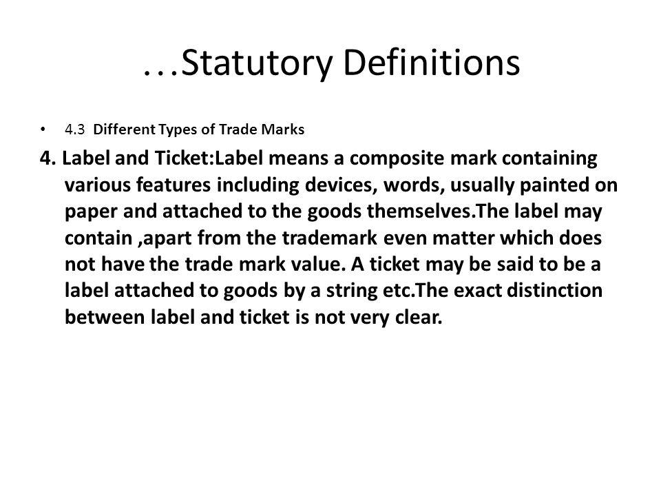 …Statutory Definitions