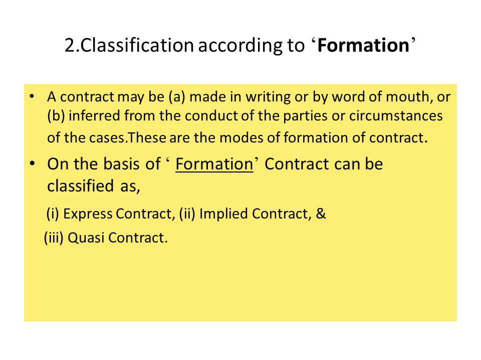 2.Classification according to 'Formation'