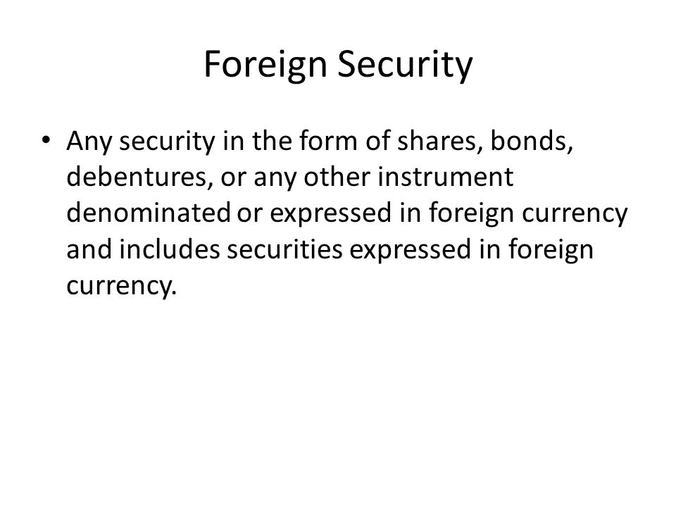 Foreign Security