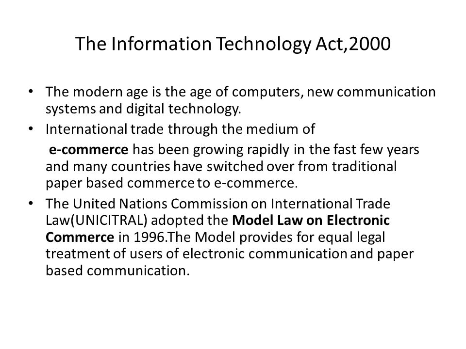 The Information Technology Act,2000