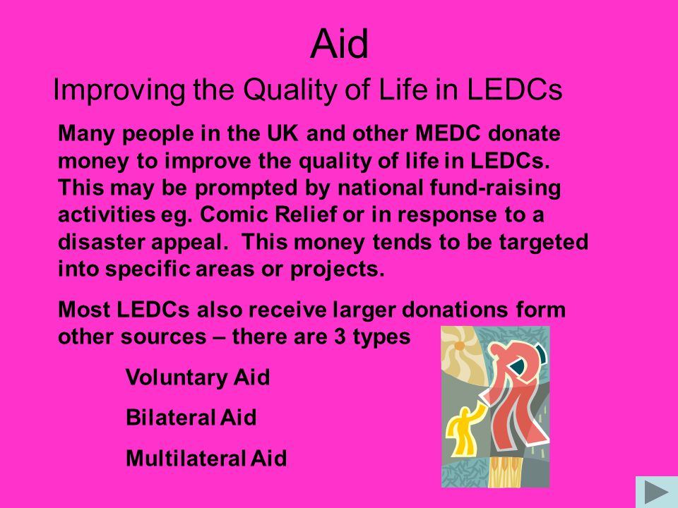 Aid Improving the Quality of Life in LEDCs