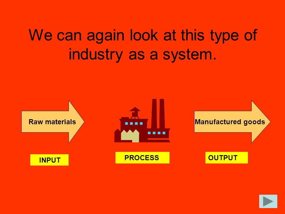 We can again look at this type of industry as a system.