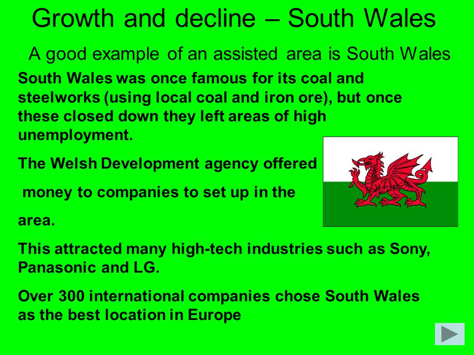Growth and decline – South Wales