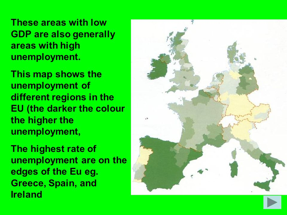 These areas with low GDP are also generally areas with high unemployment.