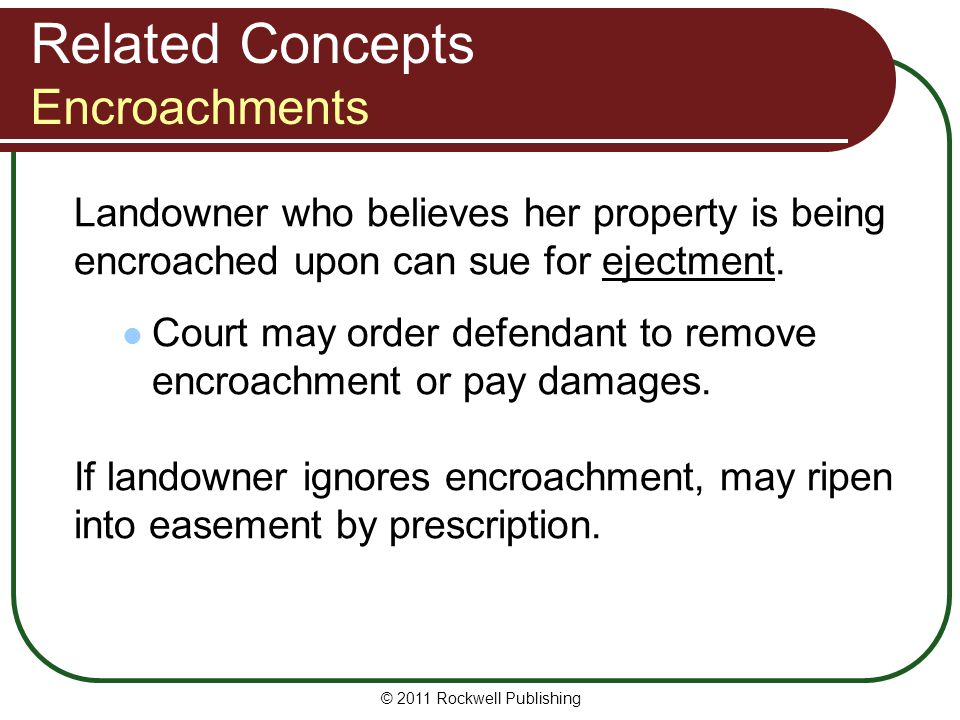 Related Concepts Encroachments