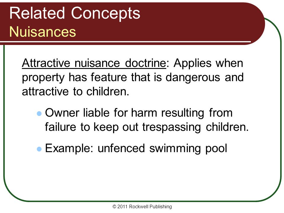 Related Concepts Nuisances