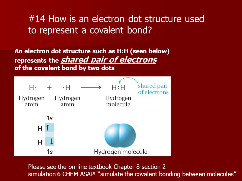 #14 How is an electron dot structure used