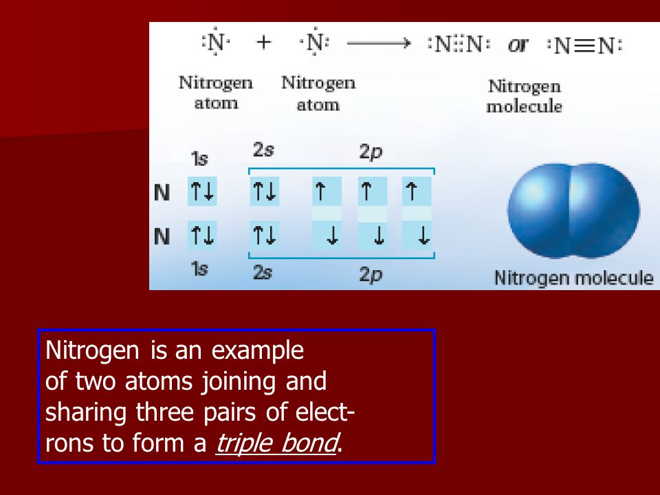 Nitrogen is an example of two atoms joining and.