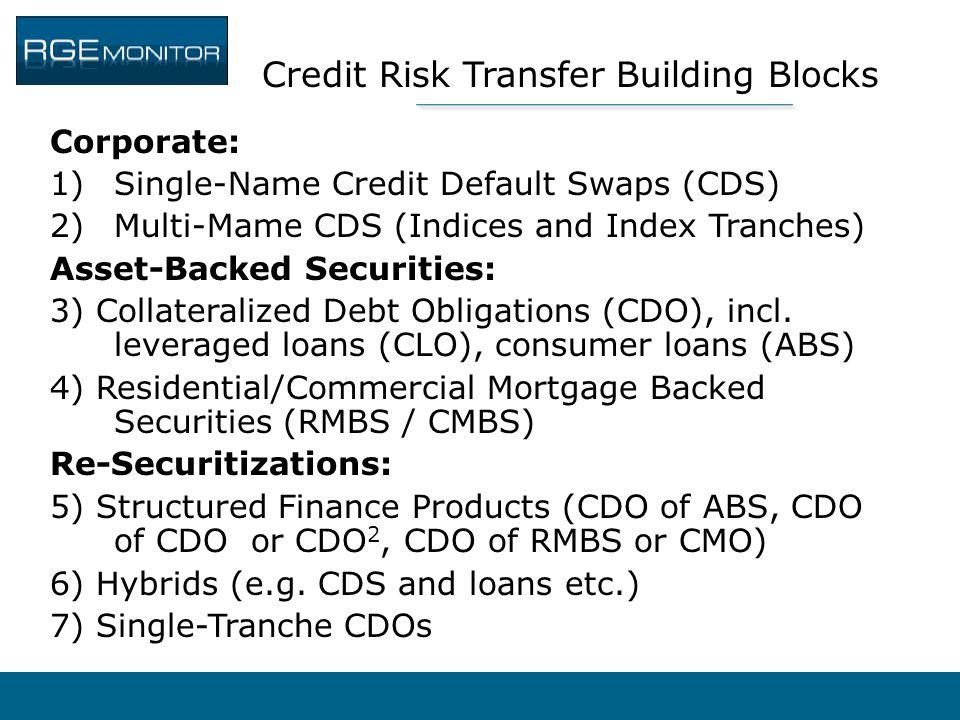 Credit Risk Transfer Building Blocks