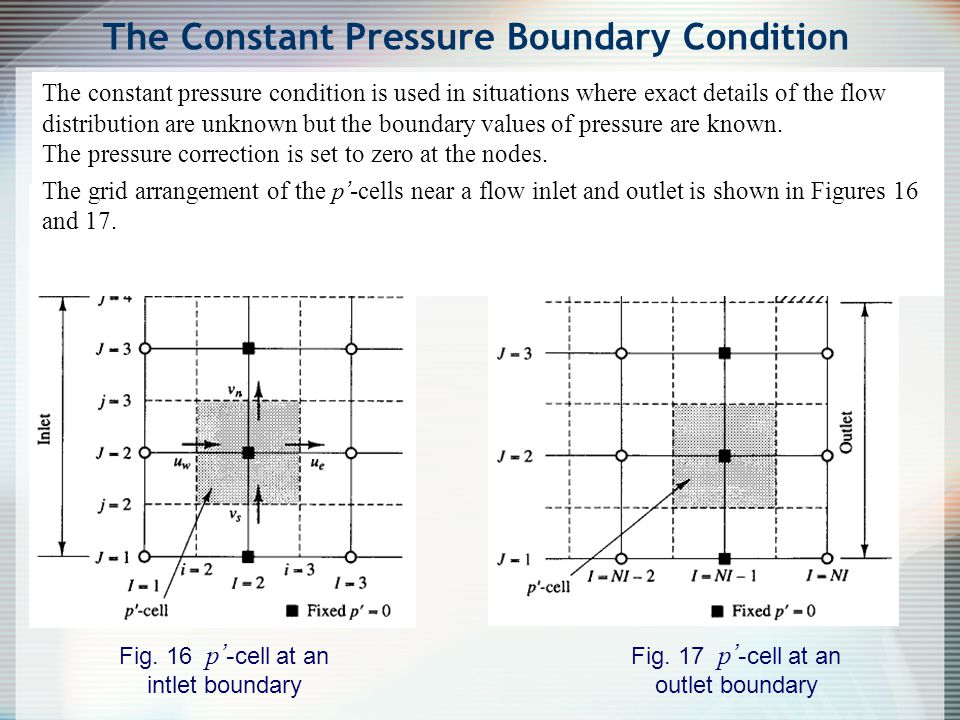 The Constant Pressure Boundary Condition