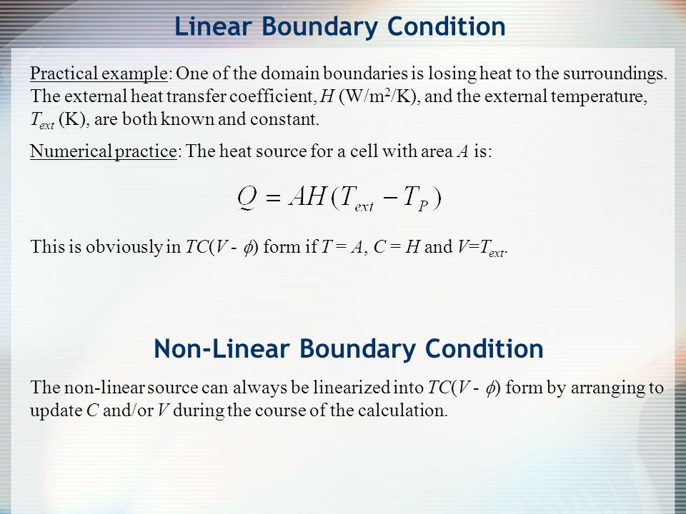 Linear Boundary Condition
