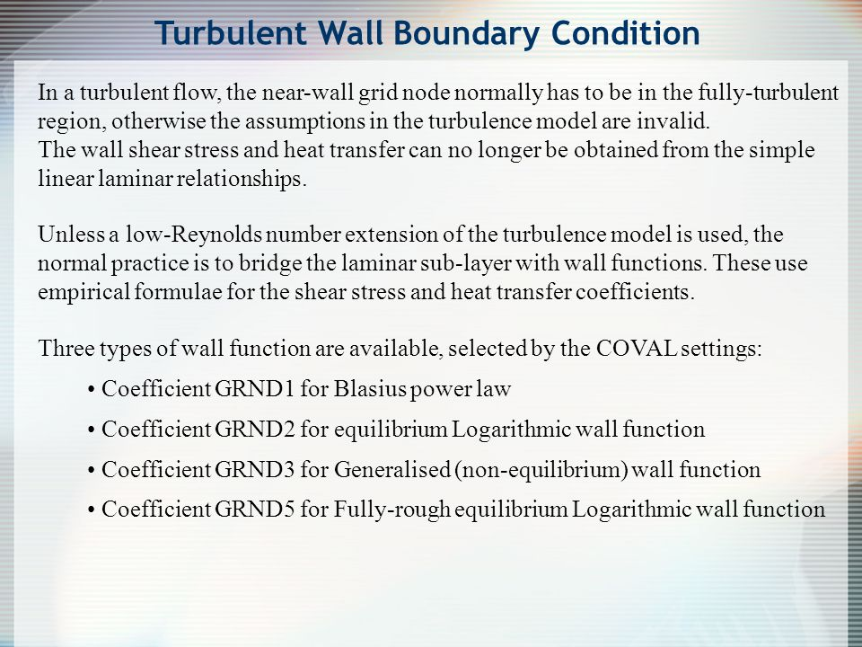 Turbulent Wall Boundary Condition