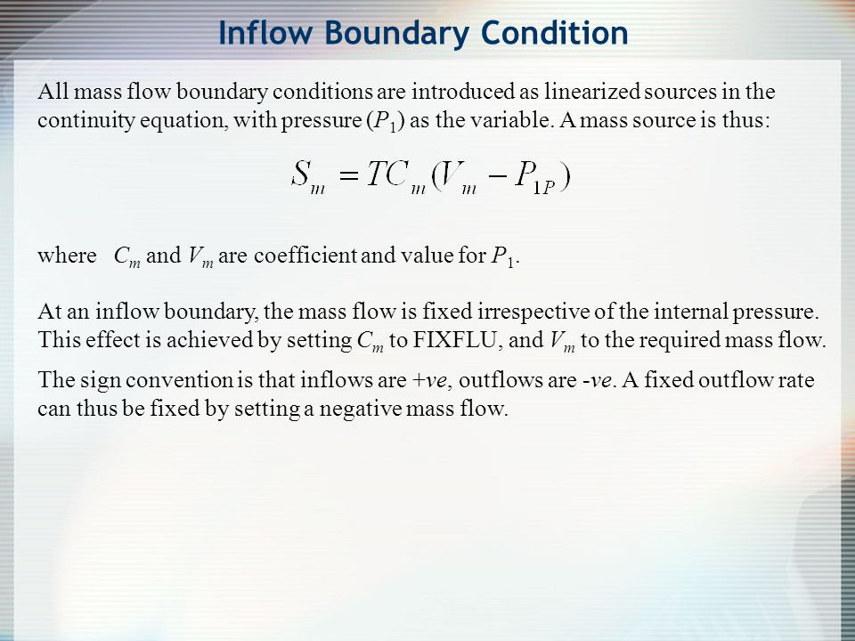 Inflow Boundary Condition