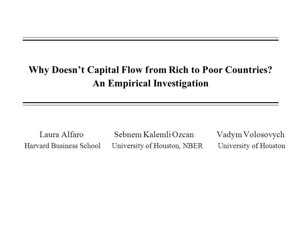 Why Doesnt Capital Flow From Rich To Poor Countries Ppt Video - Rich and poor countries