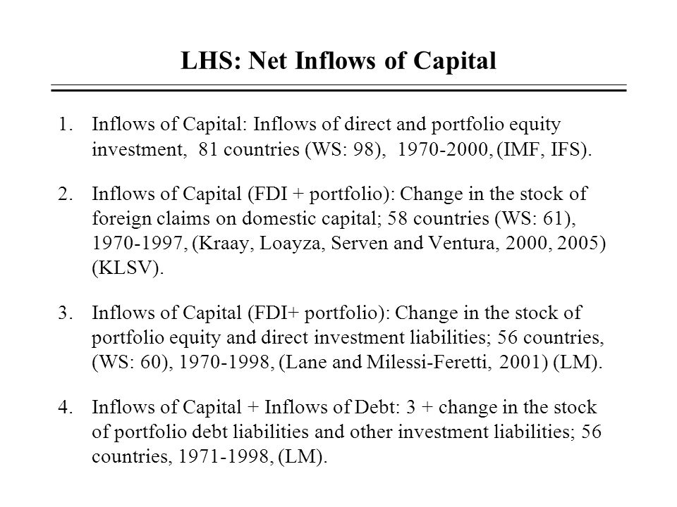 LHS: Net Inflows of Capital