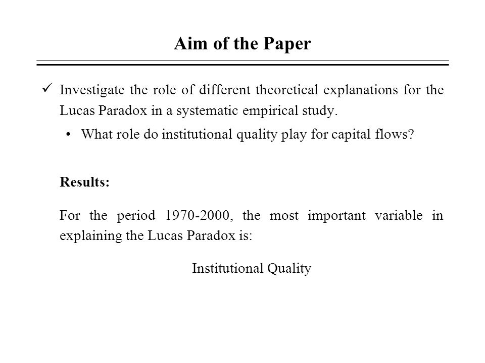 Institutional Quality