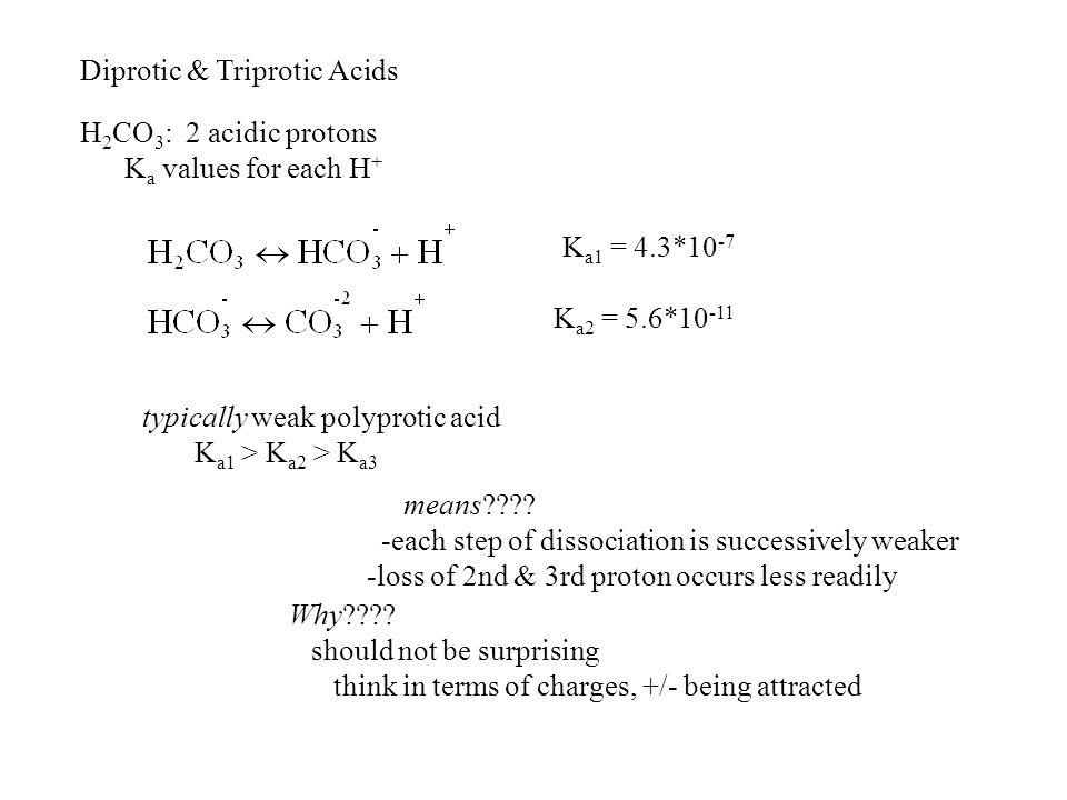 Diprotic & Triprotic Acids