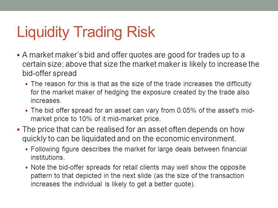 Liquidity Trading Risk