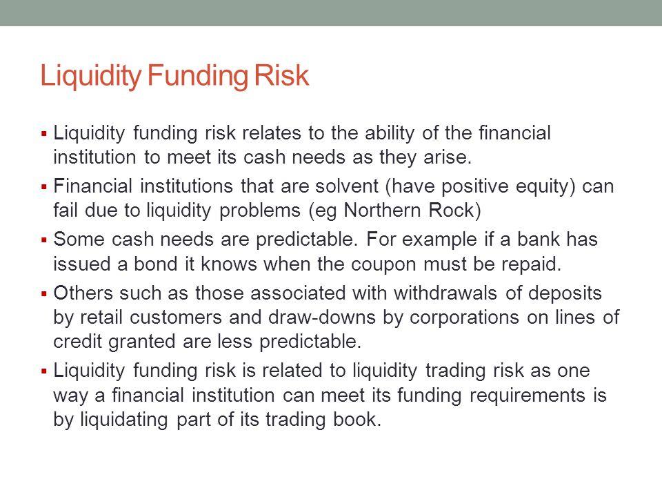 Liquidity Funding Risk