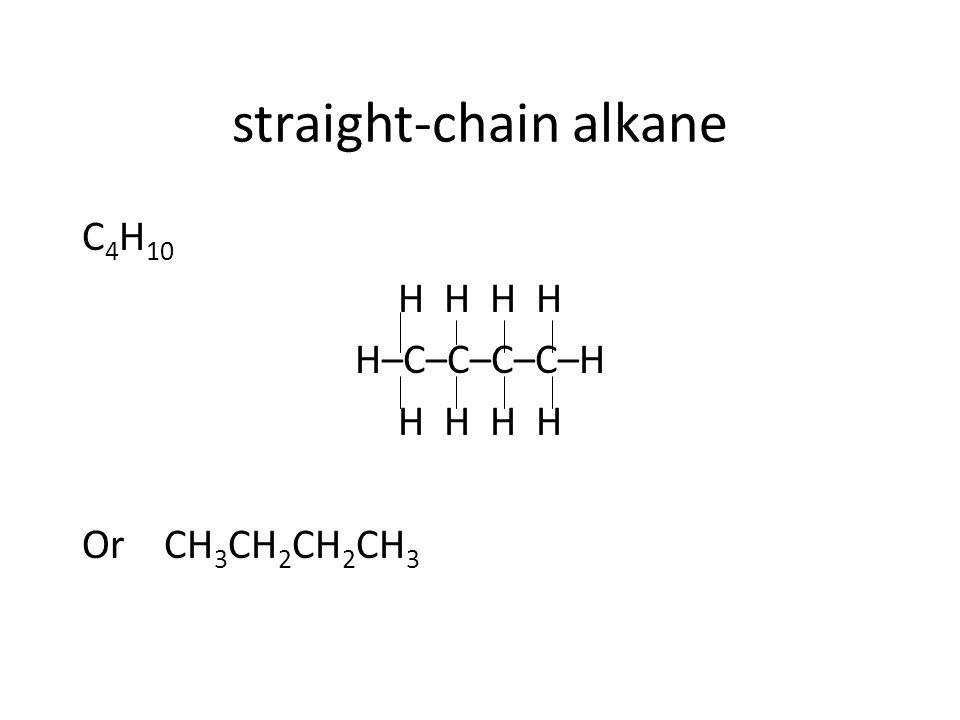 straight-chain alkane
