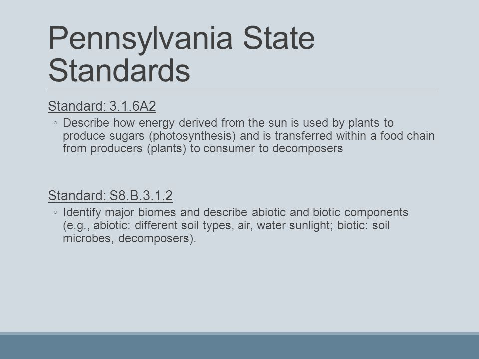 Pennsylvania State Standards