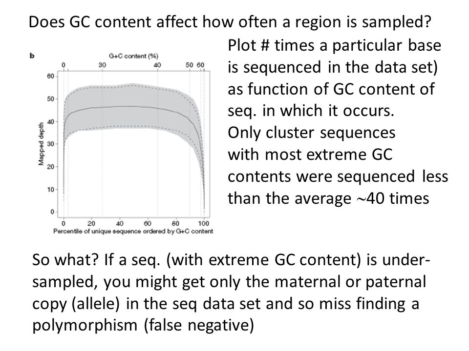 Does GC content affect how often a region is sampled