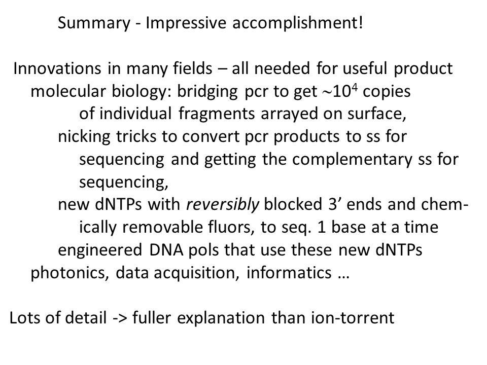Summary - Impressive accomplishment!