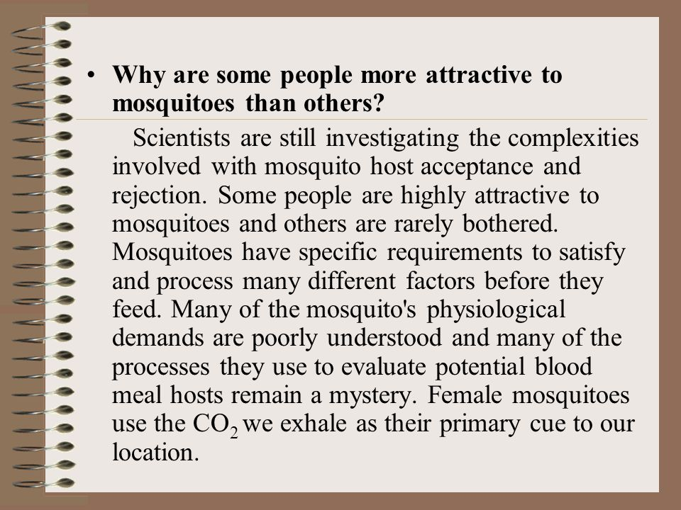 Why are some people more attractive to mosquitoes than others