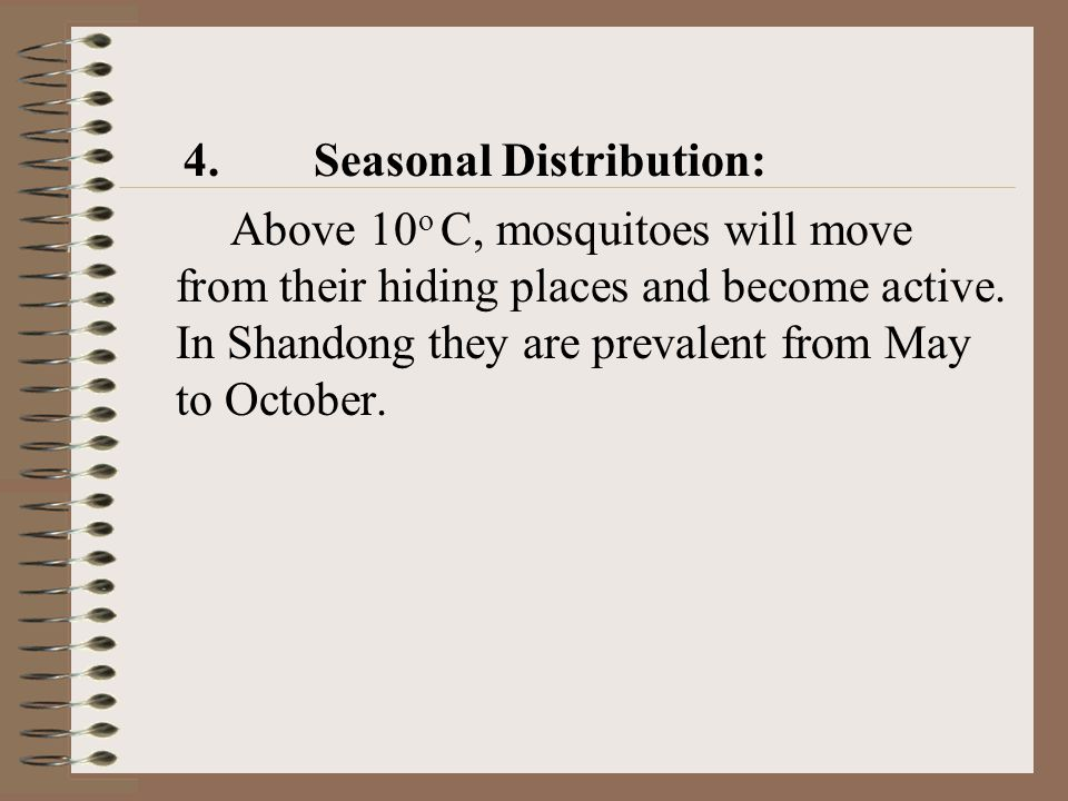 4. Seasonal Distribution: