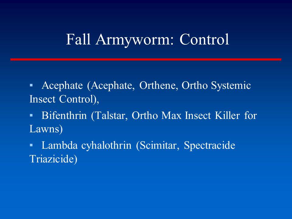 Fall Armyworm: Control