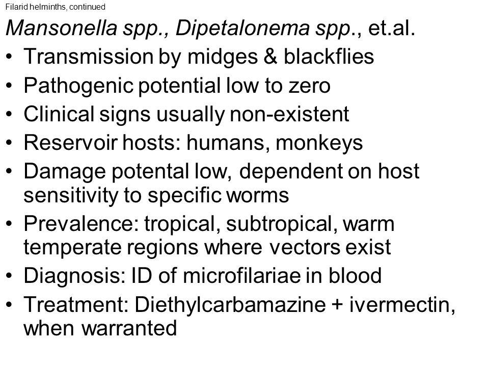 Mansonella spp., Dipetalonema spp., et.al.