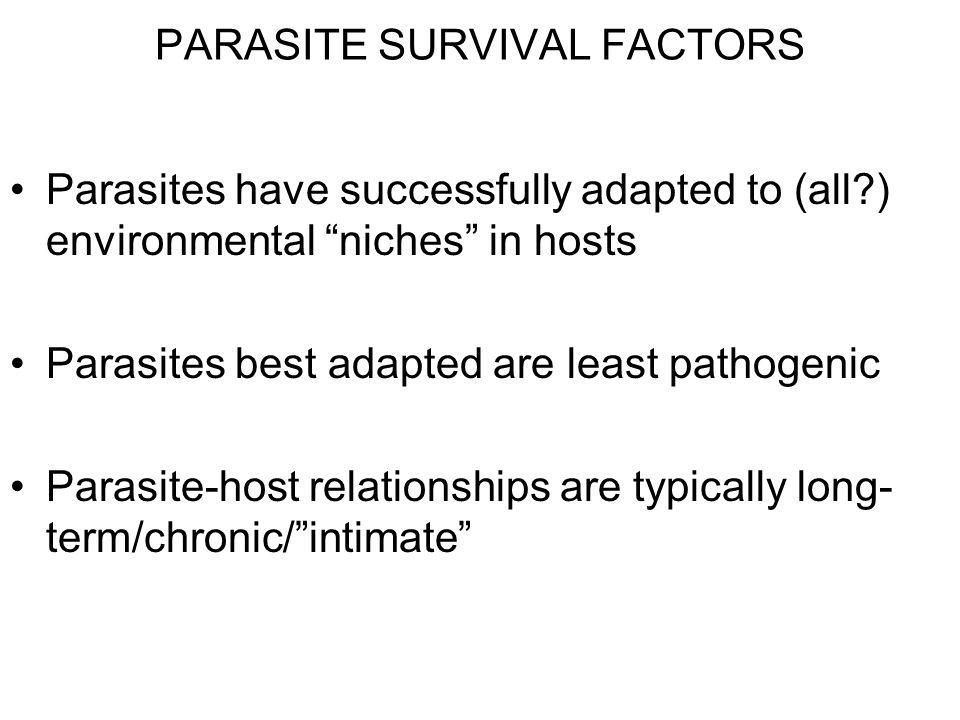 PARASITE SURVIVAL FACTORS