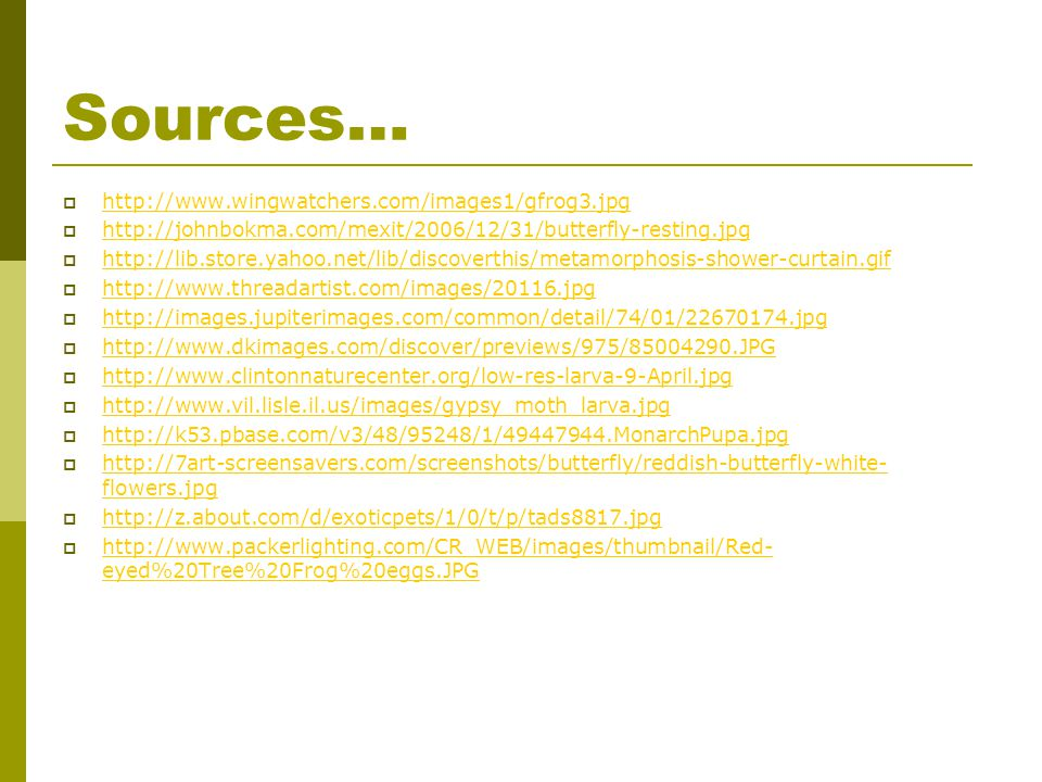 Sources… http://www.wingwatchers.com/images1/gfrog3.jpg