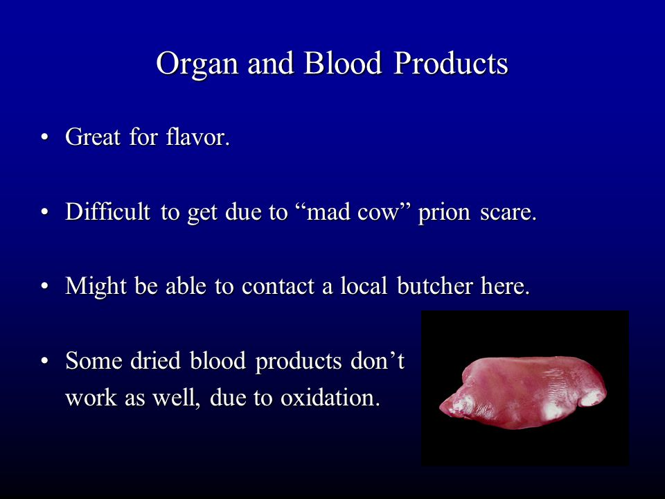 Organ and Blood Products