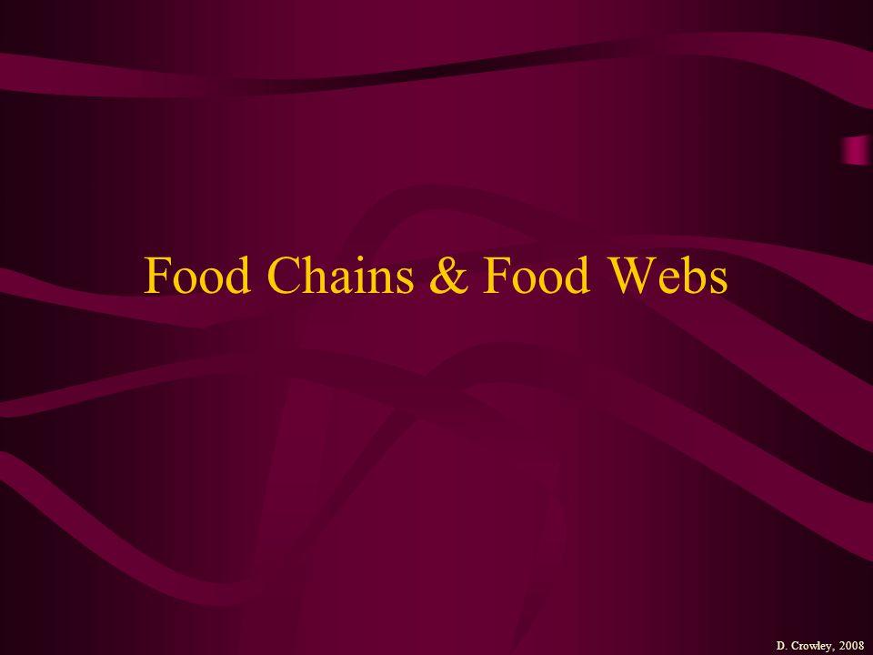 Food Chains & Food Webs D. Crowley, 2008