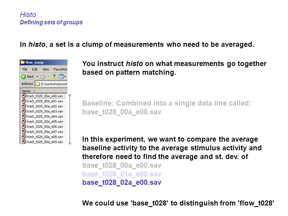 Histo Defining sets of groups