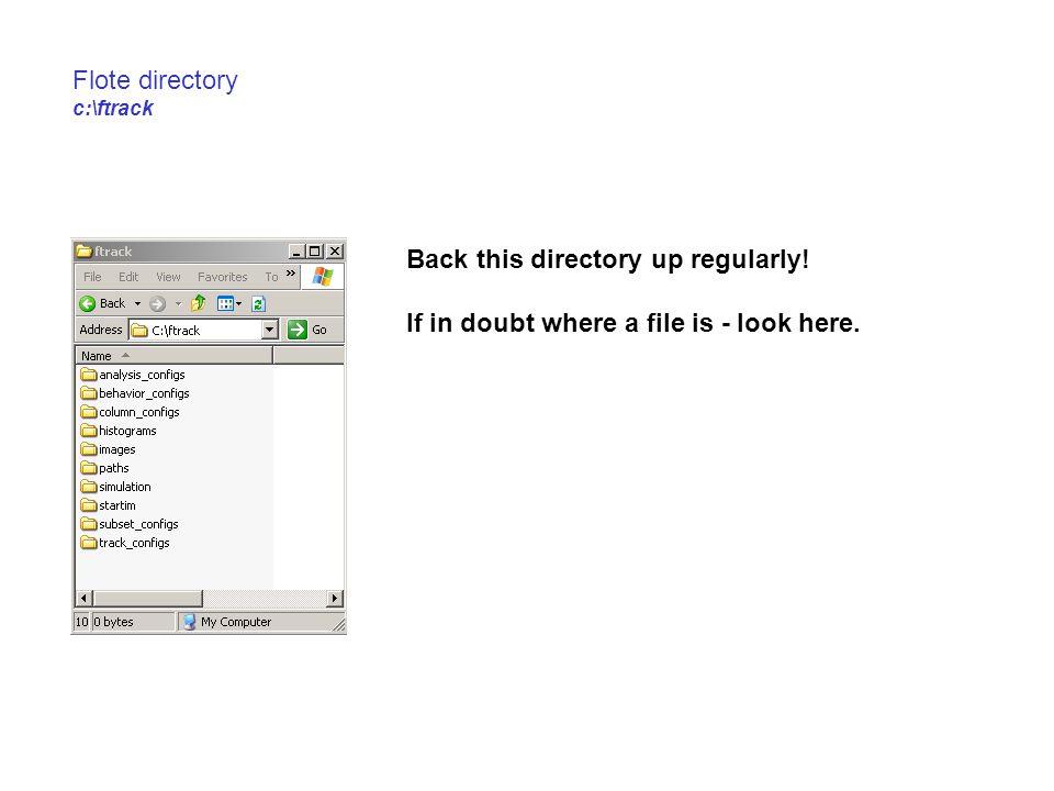 Flote directory c:\ftrack