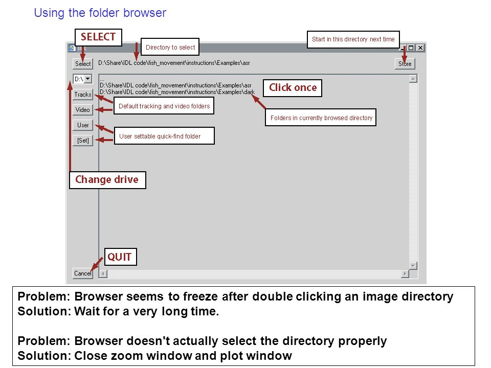 Using the folder browser