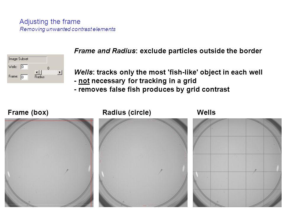 Adjusting the frame Removing unwanted contrast elements
